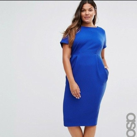 534671920be ASOS Curve Dresses   Skirts - Asos Midi Wiggle Dress with Pockets in Texture